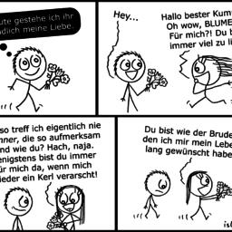 Blumen | Strichmännchen-Comic | is lieb?