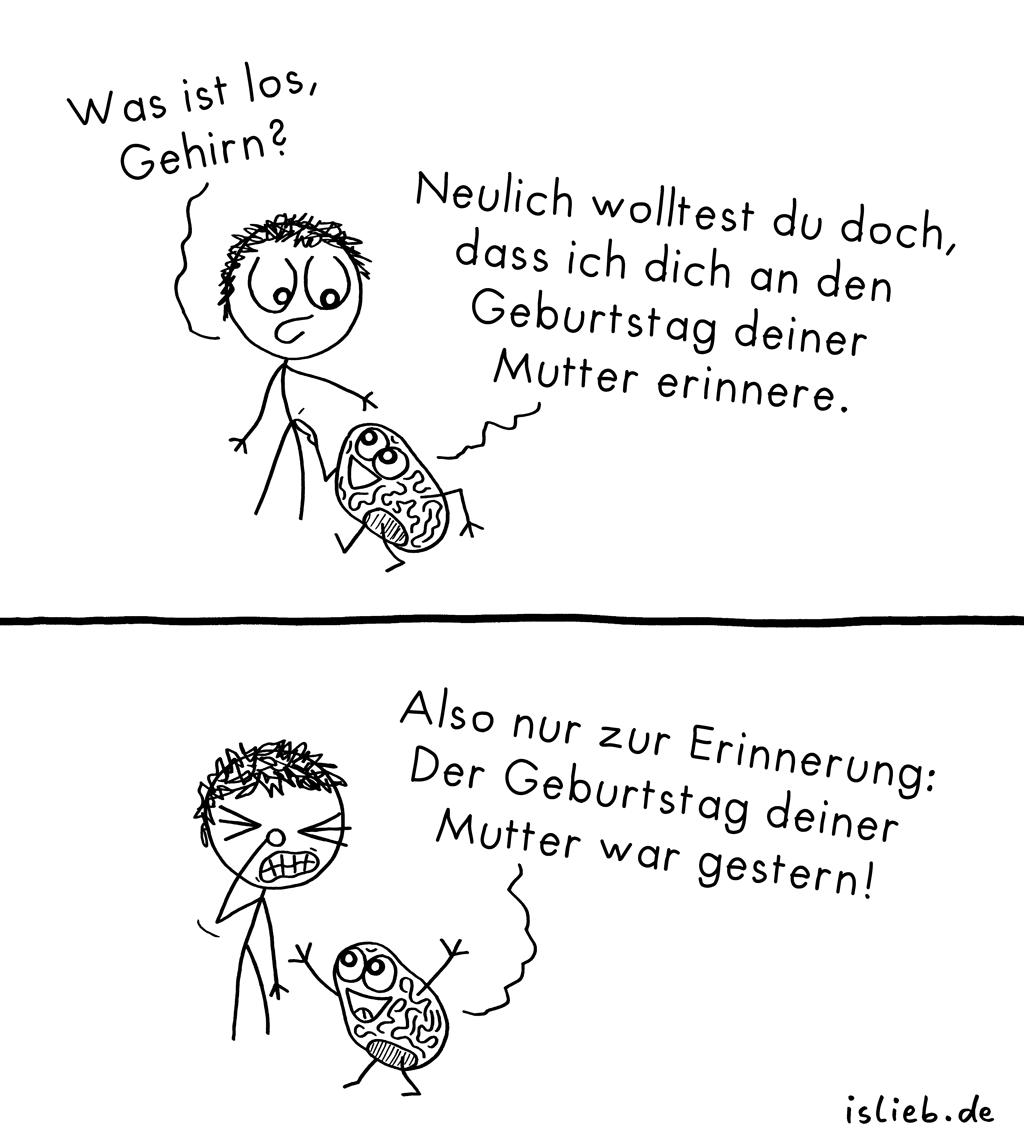 Erinnerung | Geburtstags-Comic | is lieb?
