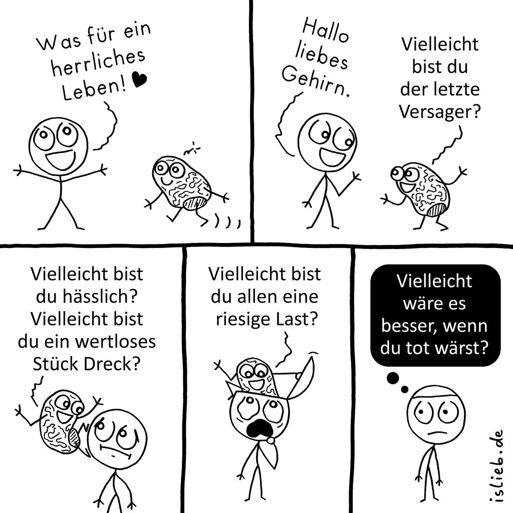 Herrliches Leben | Gehirn-Comic | is lieb?