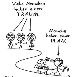 Träumer | Strichmännchen-Cartoon | is lieb?