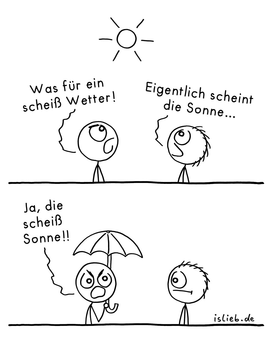 Wetter | Sonnenschein-Comic | is lieb?