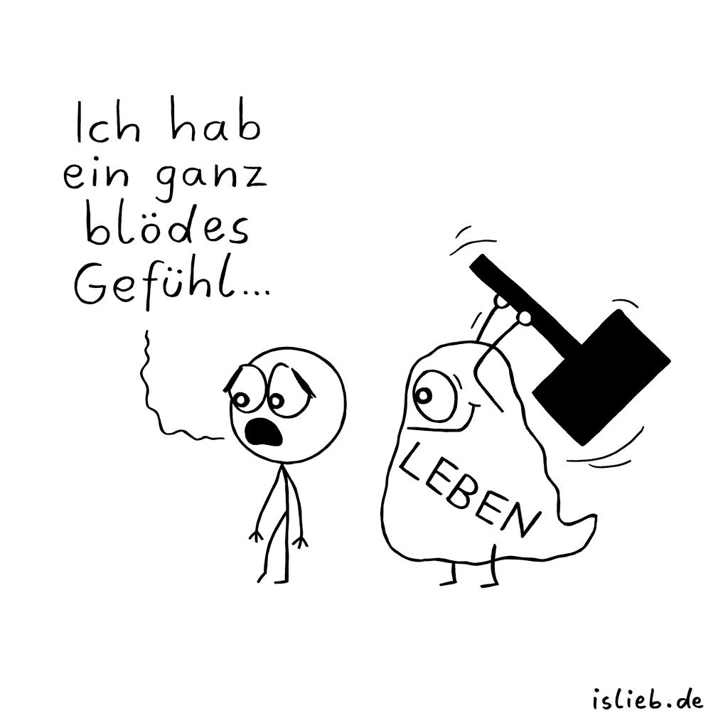 Blödes Gefühl | Strichmännchen-Cartoon | is lieb?
