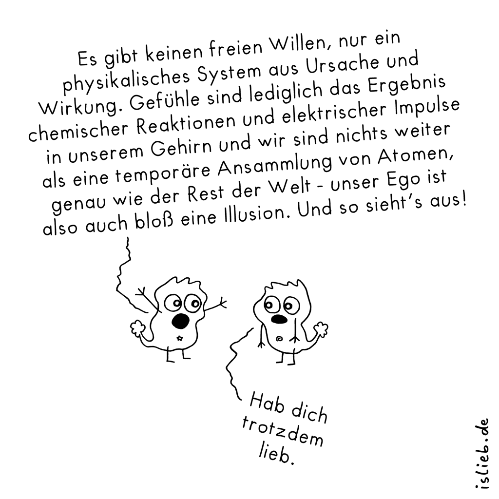 Existenz | Philosophie-Cartoon | is lieb?