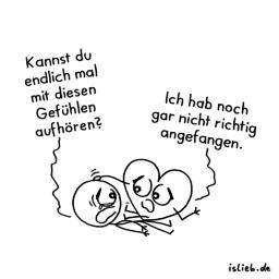 Herzlos | Gefühls-Cartoon | is lieb?