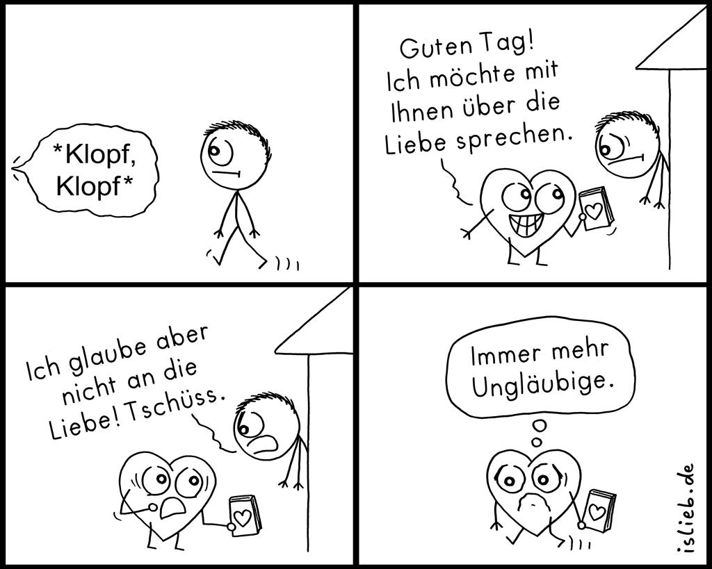 Klopf, klopf | Herz-Comic | is lieb?