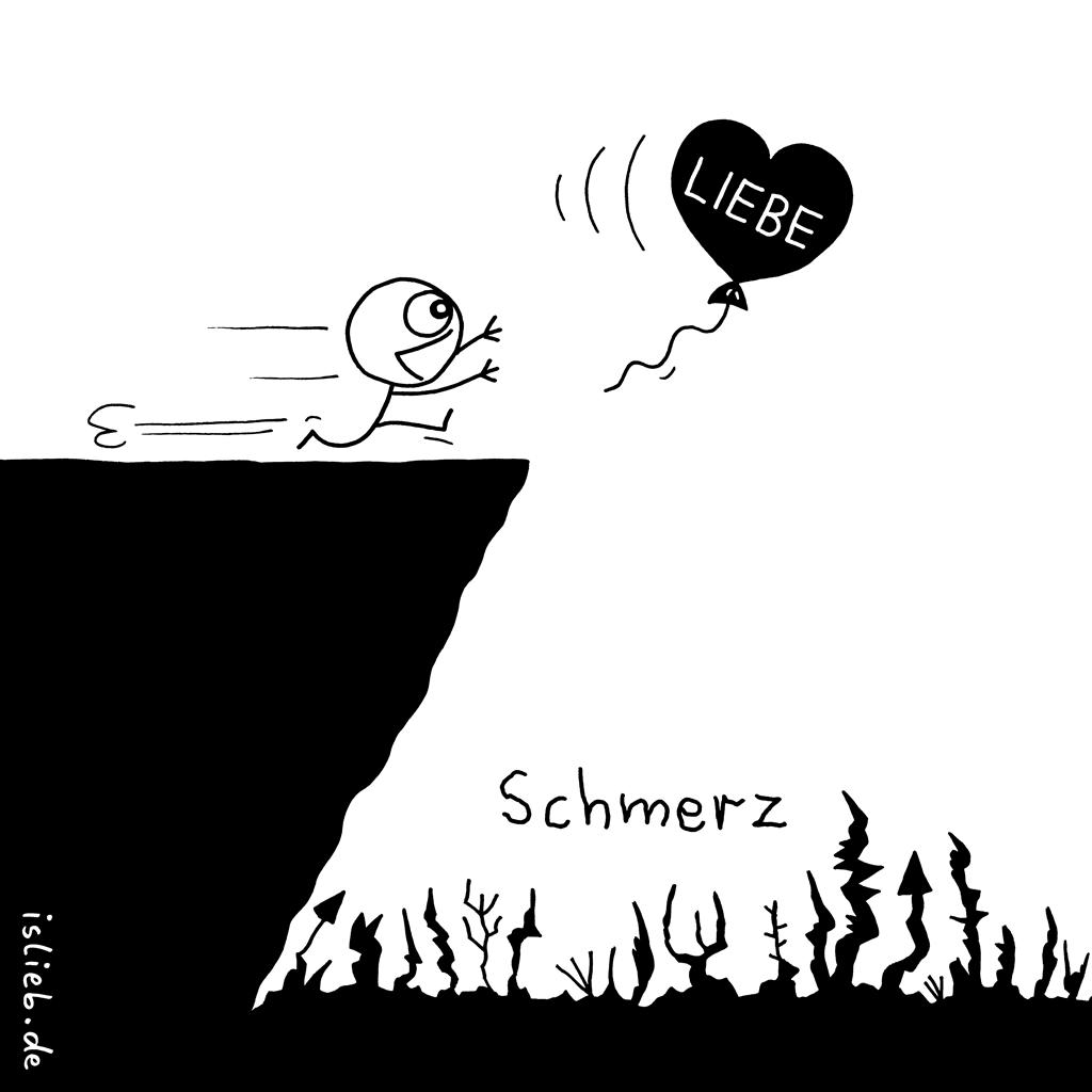 Liebe / Schmerz | Strichmännchen-Cartoon | is lieb?