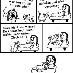 Mieser Tag | Katzen-Comic | is lieb?