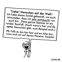 Mitteilung | Statement-Cartoon | is lieb?
