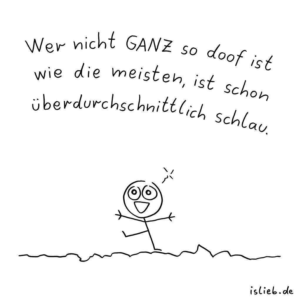 Nicht ganz | Strichmännchen-Cartoon | is lieb?