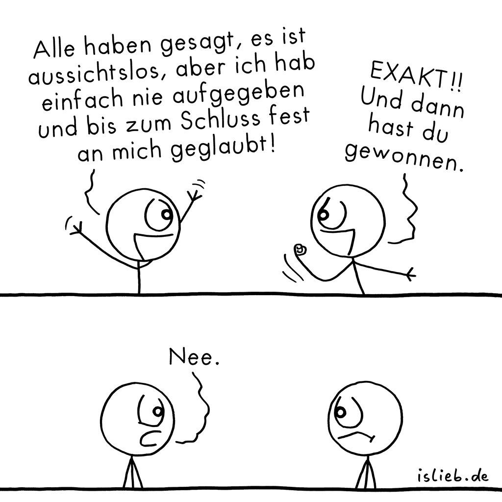 Nie aufgeben | Motivations-Comic | is lieb?