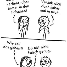 Richtig verlieben | Liebeskummer-Comic | is lieb?