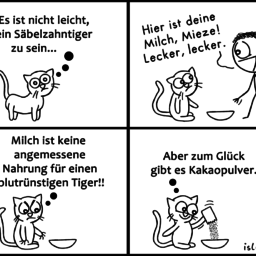 Tiger | Raubtier-Comic | is lieb?