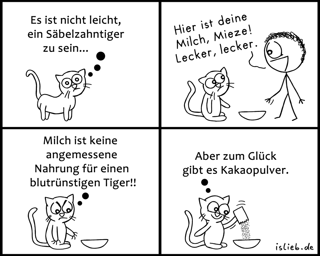 Tiger | Raubtier-Comic | is lieb?