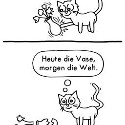 Vase | Katzen-Comic | is lieb?