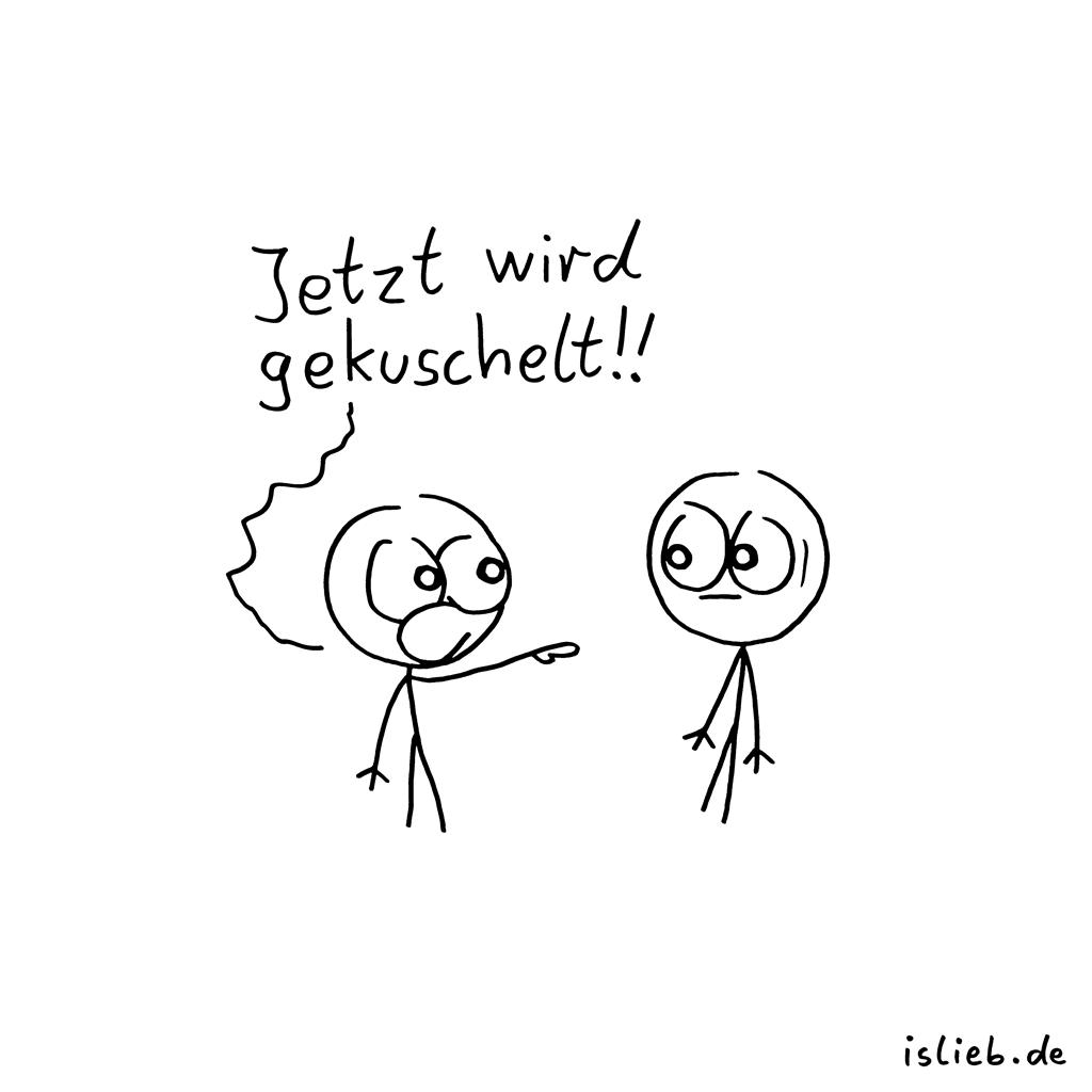 Aufruf | Kuschel-Cartoon | is lieb?