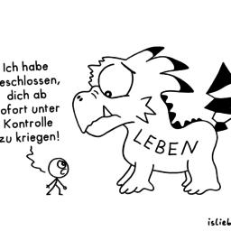 Beschluss | Strichmännchen-Cartoon | is lieb?