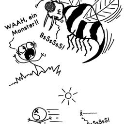 Ein Monster | Wespen-Comic | is lieb?