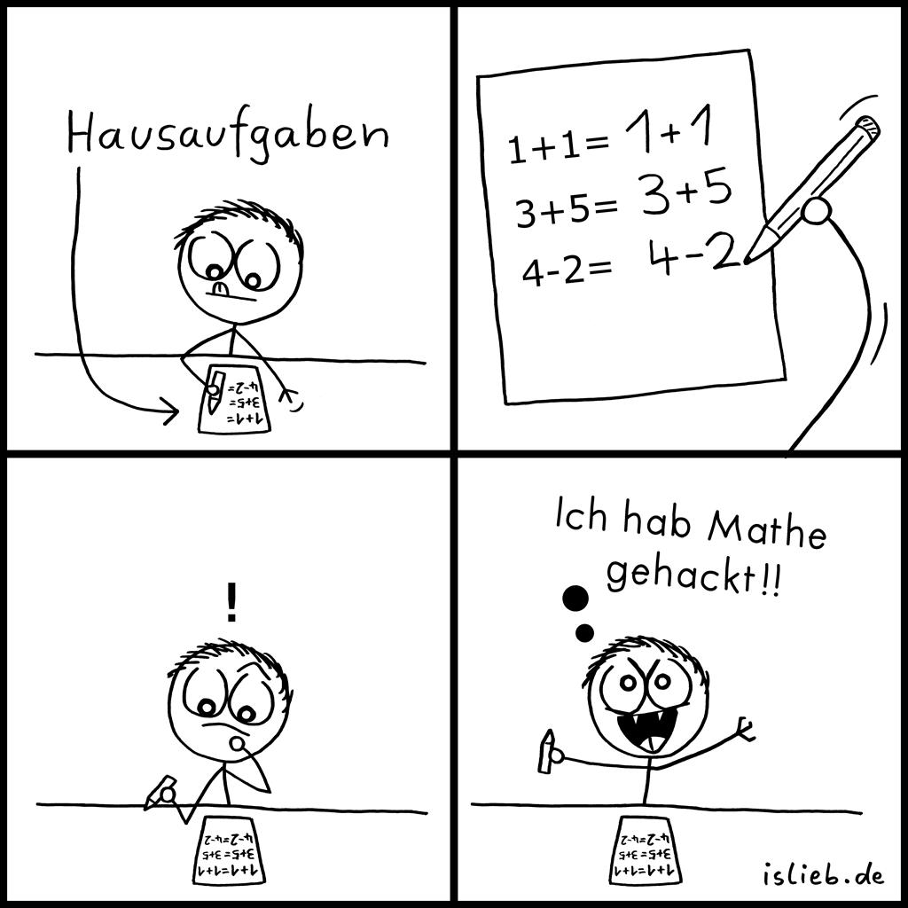 Hausaufgaben | Mathe-Comic | is lieb?