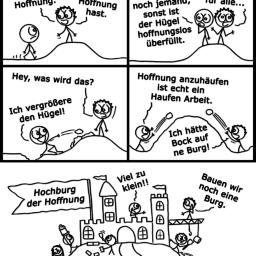 Hügel der Hoffnung | Optimismus-Comic | is lieb?