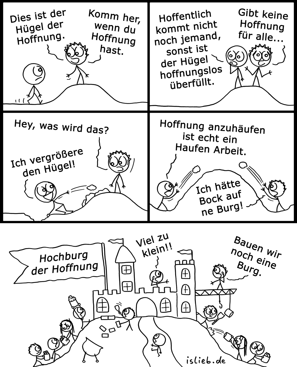 Hügel der Hoffnung | Optimismus-Comic | is lieb?
