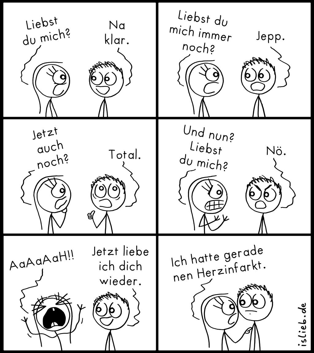 Liebst du mich? | Strichweibchen-Comic | is lieb?