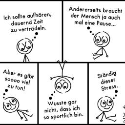 Motivation | Strichmännchen-Comic | is lieb?