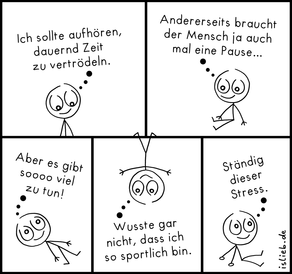 Motivation | Strichmännchen-Comic | is lieb?
