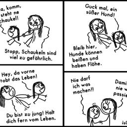 Schaukel | Helikopter-Comic | is lieb?