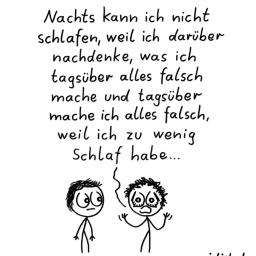 Schlafproblem | Strichmännchen-Cartoon | is lieb?