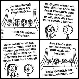 Theater | Gesellschafts-Comic | is lieb?