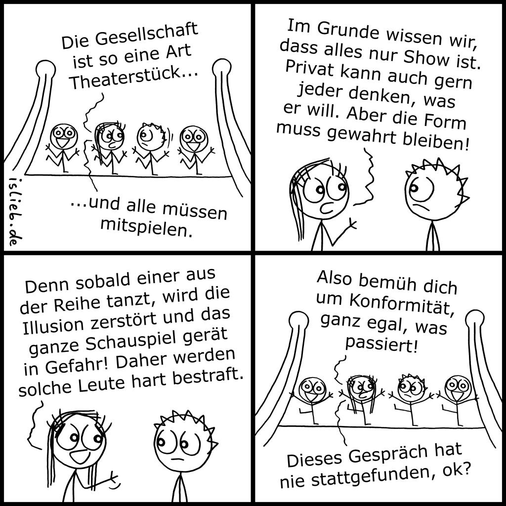 Theater | Gesellschafts-Comic | is lieb?