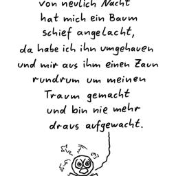 Traumlyrik | Schlaf-Cartoon | is lieb?