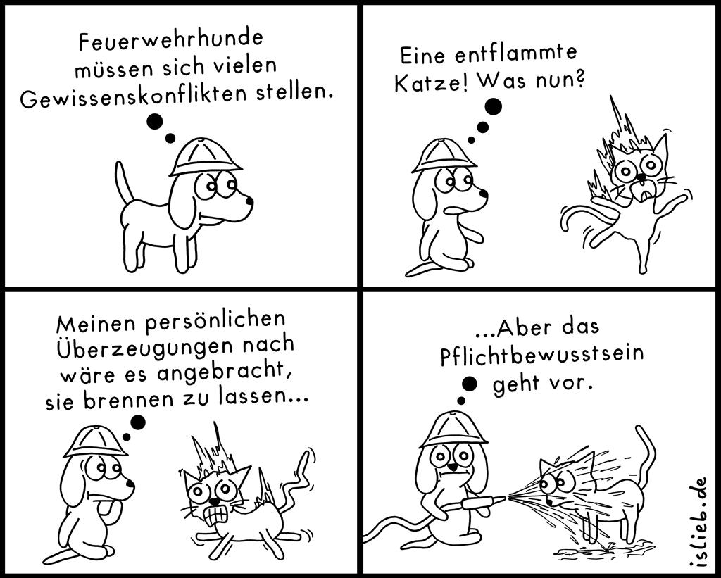Feuerwehrhund | Krakel-Comic | is lieb?
