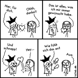 Geschenk | Strichmännchen-Comic | is lieb?