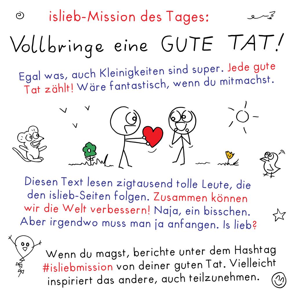 islieb-Mission: Gute Tat!