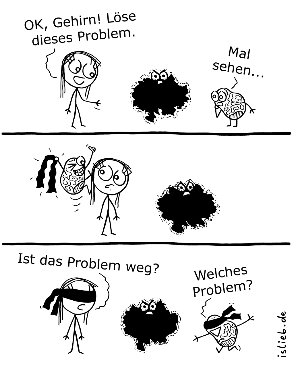 Problemlösung | Gehirn-Comic | is lieb?