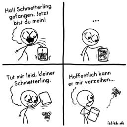 Schmetterling | tierlieber Comic | is lieb?