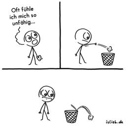 Unfähig | Strichmännchen-Comic | is lieb?
