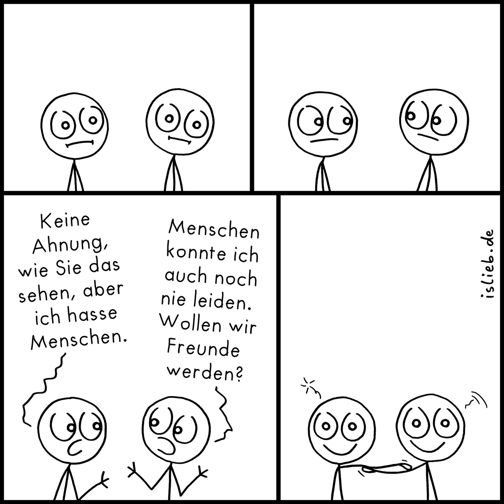 Verbundenheit | Strichmännchen-Comic | is lieb?