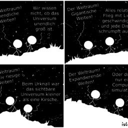 Weltraum | Kosmologie-Comic | is lieb?