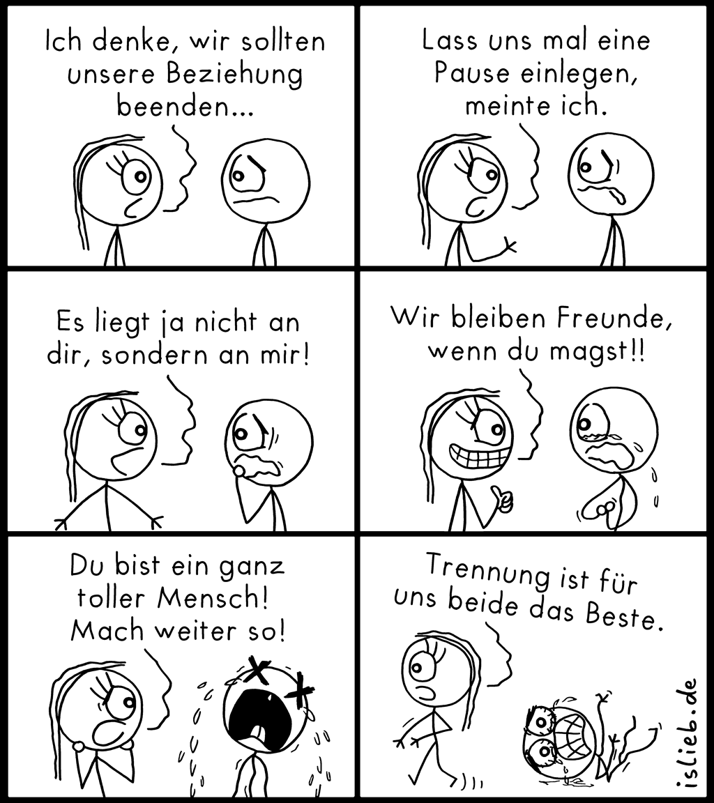 Beziehung beenden | Trennungs-Comic | is lieb?