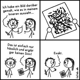 Bild gemalt | Zeichen-Comic | is lieb?