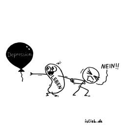 Kampf | Depressions-Cartoon | is lieb?