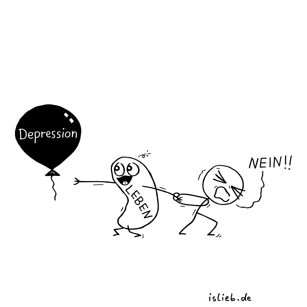 Kampf | Depressions-Cartoon | is lieb?