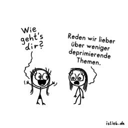 Themawechsel | Smalltalk-Cartoon | is lieb?