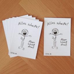 Alles scheiße! islieb-Postkarten