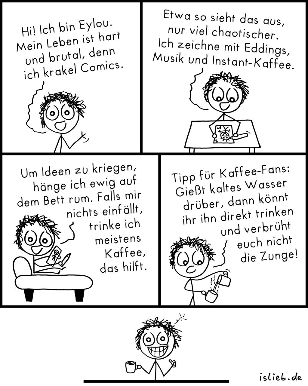 Comiczeichner-Comic | is lieb?