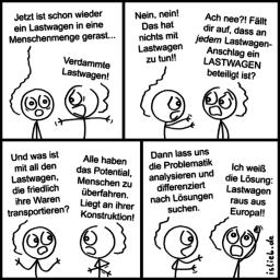 Lastwagen | Strichmännchen-Comic | is lieb?