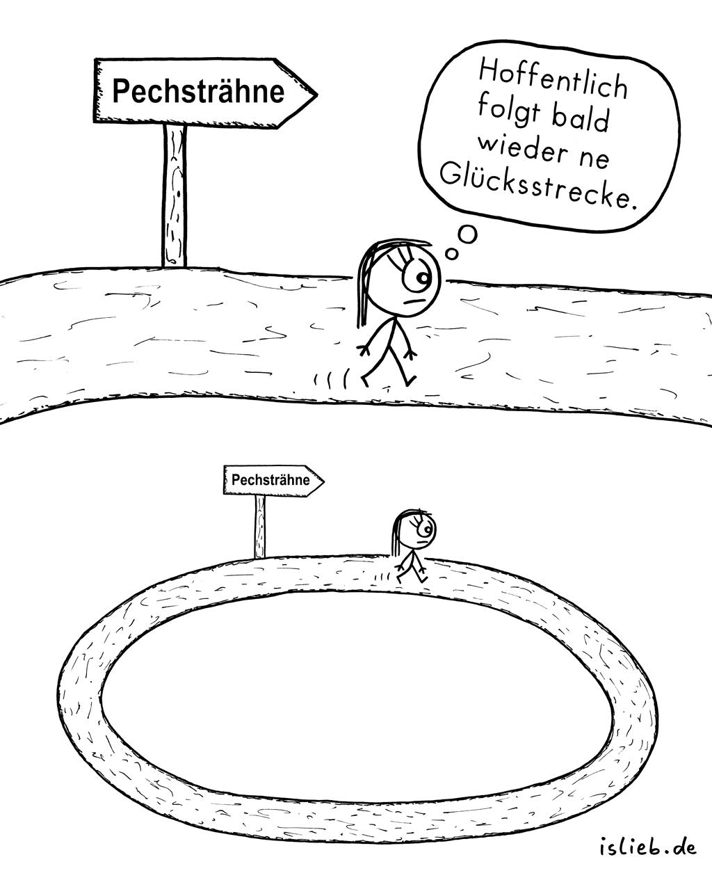 Pechsträhne | Unglücks-Comic | is lieb?