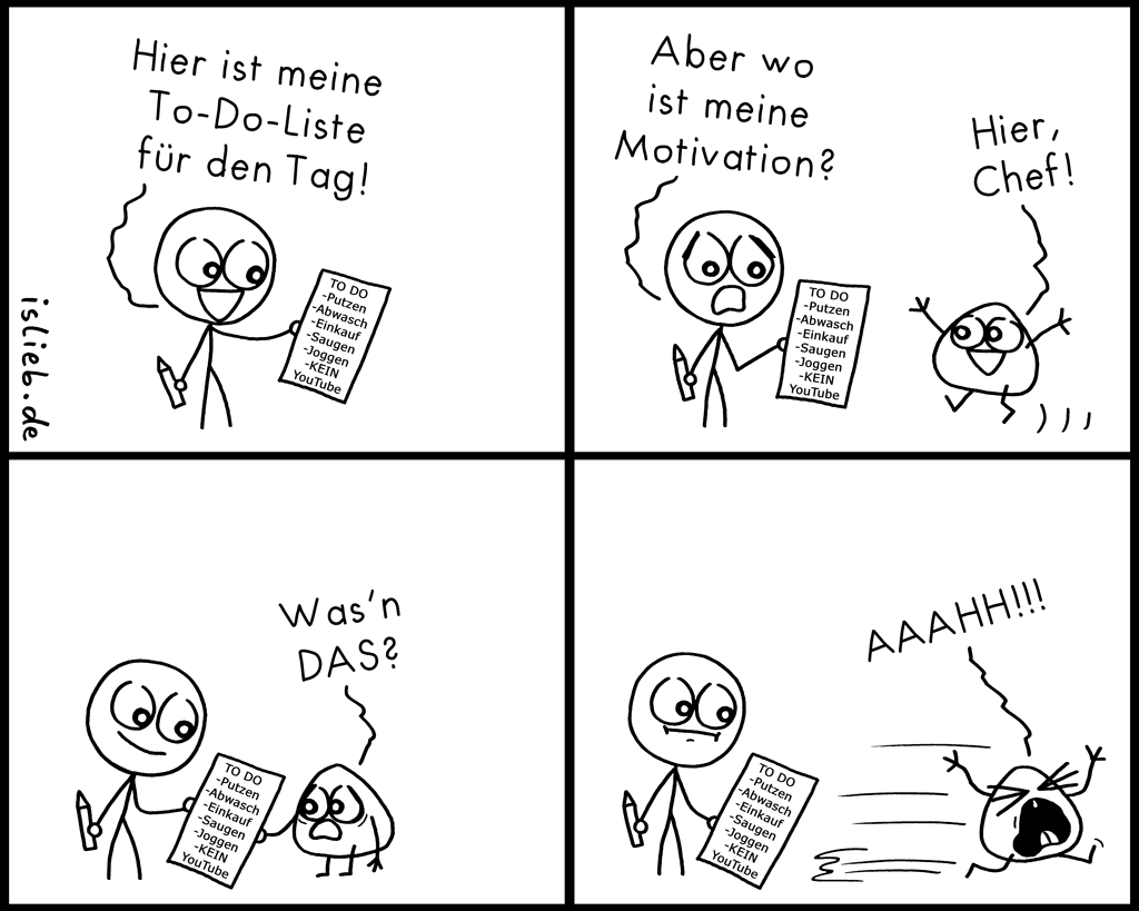 To Do Liste | Motivations-Comic | is lieb?